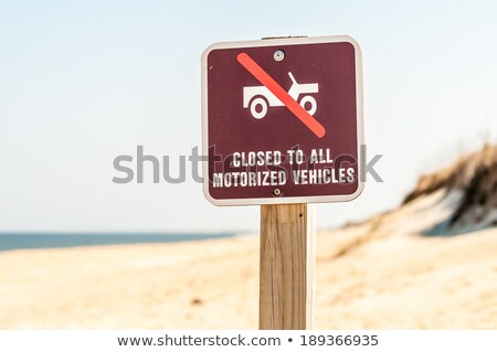 closed to all motorized vehicles on beach sign Stock photo © alex_grichenko