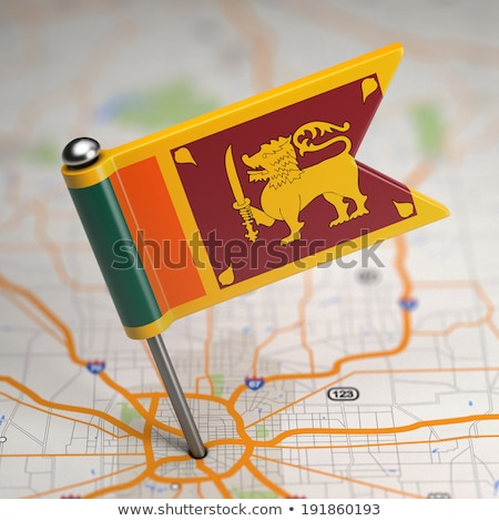 Sri Lanka kicsi zászló térkép szelektív fókusz háttér Stock fotó © tashatuvango