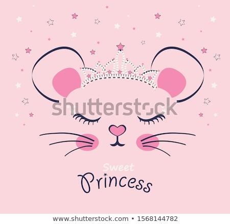 Girl with mouse stock photo © nizhava1956