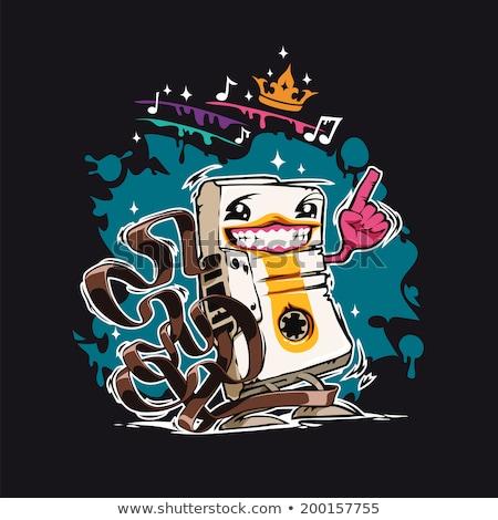 幸せ 漫画 オーディオ カセット テープ 暗い ストックフォト © Voysla