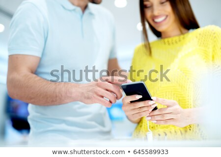 The brand new phone is out for sale Stock photo © stockyimages