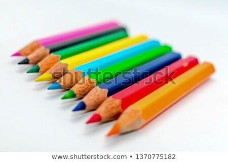 Ostry farbują kredki retro efekt inny Zdjęcia stock © nito