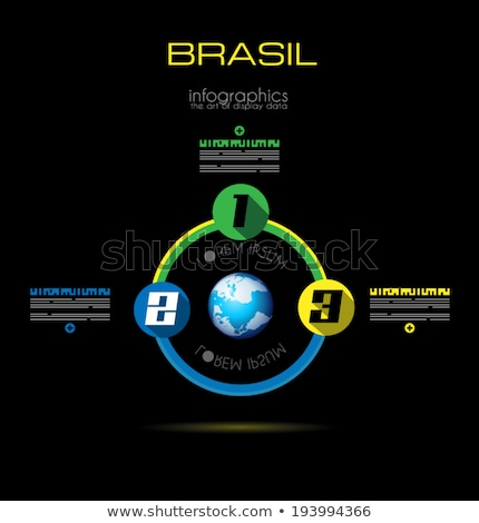 Modern BRASIL  Infographic template with Flat UI style Stock photo © DavidArts