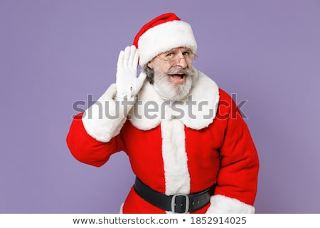 senior man trying to listen isolated on white background stock photo © bmonteny