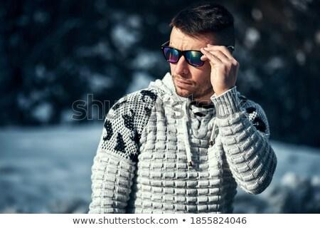 Unshaven man with sunglasses Stock photo © stevanovicigor