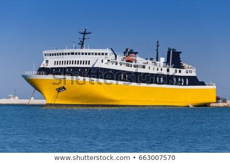 Stock fotó: Csónak · tenger · turista · lebeg · türkiz · hajó