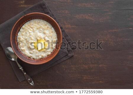 Caliente verde tazón fresa atasco desayuno Foto stock © raphotos