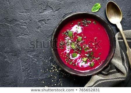 Barbabietole zuppa alimentare cucina ristorante carne Foto d'archivio © yelenayemchuk