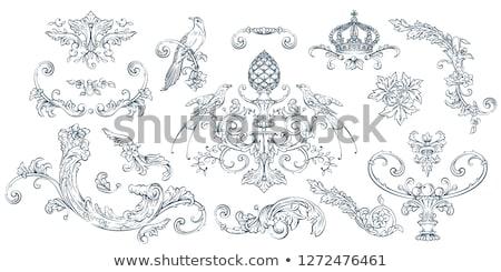 Aves decoração decorado floral Foto stock © jul-and