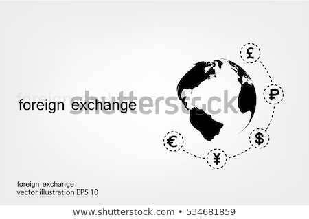 Euro currency around the globe illustration design graphic Stock photo © alexmillos