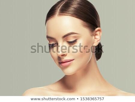 ストックフォト: かなり · モデル · 孤立した · 官能的な · 少女 · 商業