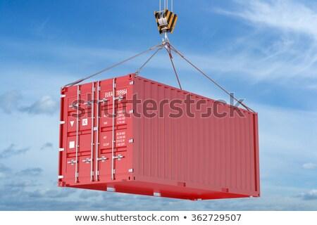 Moving - Blue Hanging Cargo Container. Stock photo © tashatuvango