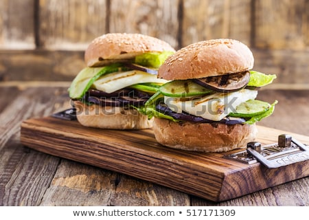 Eggplant burger Stock photo © tilo