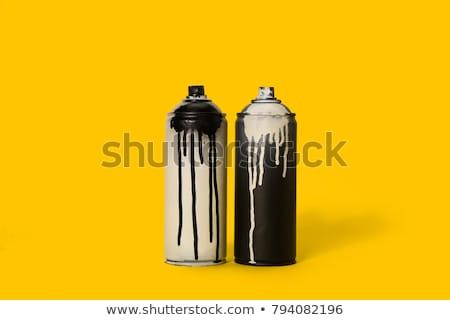 Farby spray puszka projekty graffiti Zdjęcia stock © padrinan