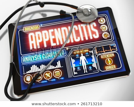 appendicitis on the display of medical tablet stock photo © tashatuvango