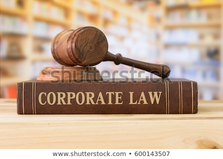 A law book with a gavel - Corporate law Stock photo © Zerbor