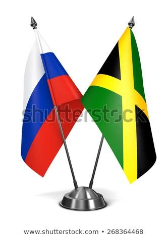 Rusland Jamaica miniatuur vlaggen geïsoleerd witte Stockfoto © tashatuvango