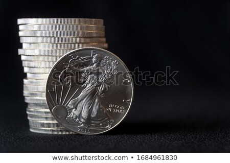 us american coin on black background stock photo © frameangel