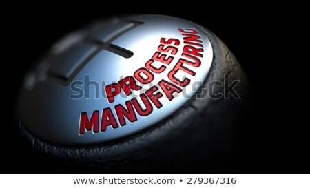 プロセス 製造 ギア スティック 赤 文字 ストックフォト © tashatuvango