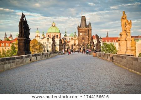 старый город моста башни Прага вечер город Сток-фото © AndreyKr