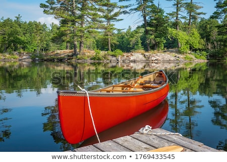 Canadian Lake in Summer stock photo © mpetersheim