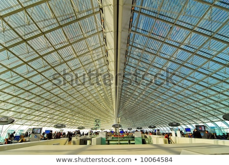 airport in paris charles de gaulle stock photo © jeancliclac