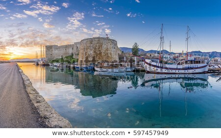 medieval castle and harbor view in kyrenia stock photo © kirill_m