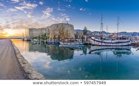 Middeleeuwse kasteel haven water Blauw Stockfoto © Kirill_M