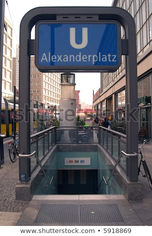 Alexanderplatz subway station in Berlin Stock photo © AndreyKr