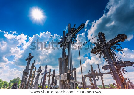 Hill of Crosses in Lithuania Stock photo © benkrut