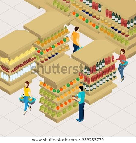owoców · duży · rynku · organiczny · owoce - zdjęcia stock © elnur