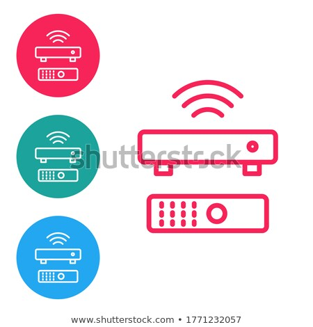 Multimedialnych czerwony wektora przycisk ikona projektu Zdjęcia stock © rizwanali3d