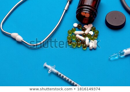 Pneumonia Diagnosis. Medical Concept. Composition of Medicaments. Stock photo © tashatuvango