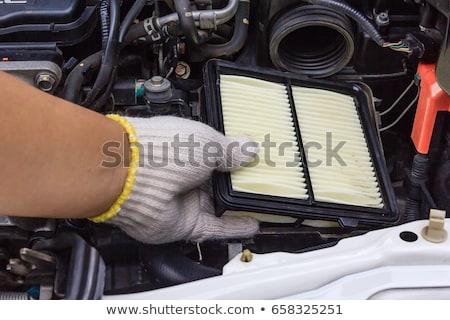 automotive · lucht · filteren · gebruikt · schoonmaken · verbranding - stockfoto © ruslanomega