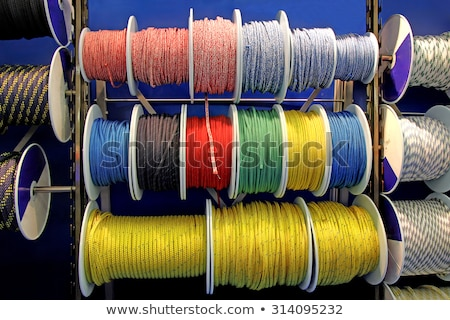Collection of various ropes, coiled on reels Stock photo © smuki