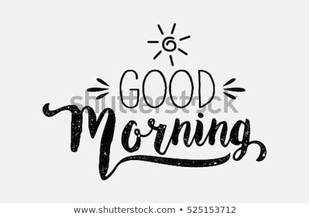 sabah · iyi · mesaj · kahve · kâğıt · ahşap · içmek - stok fotoğraf © fuzzbones0