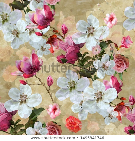 Abstract trees with floral elements  Stock photo © Morphart