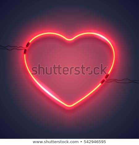 Valentine hearts glowing in the dark  Stock photo © shawlinmohd