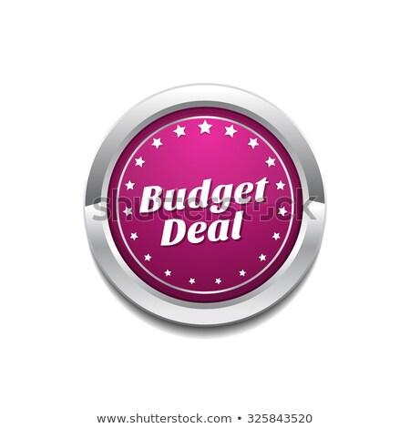 予算 契約 ピンク ベクトル ボタン アイコン ストックフォト © rizwanali3d
