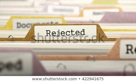 folder in catalog marked as dismissed stock photo © tashatuvango