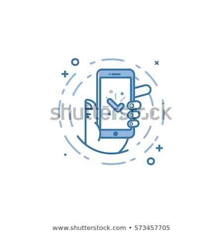 üzenet kék vektor ikon terv háló Stock fotó © rizwanali3d