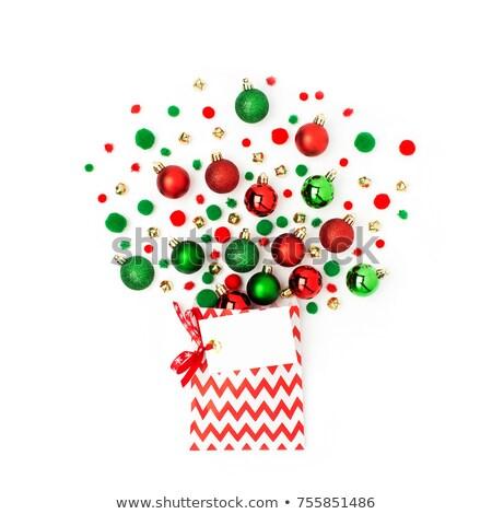 Рождества · игрушками · гирлянда · красный · сумку - Сток-фото © mikko