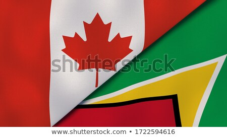 Canada and Guyana Flags  Stock photo © Istanbul2009