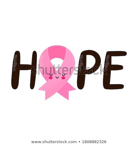 предотвращение · Рак · молочной · железы · женщину · девушки · бабочка - Сток-фото © sognolucido