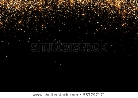 black background with gold stars stock photo © rommeo79