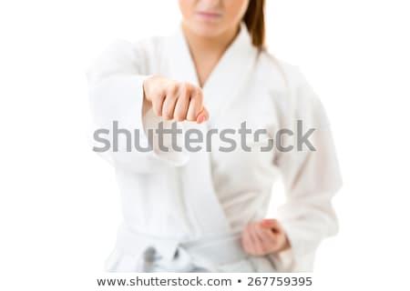vrouw · adem · jonge · vrouw · astma · aanval - stockfoto © lightpoet