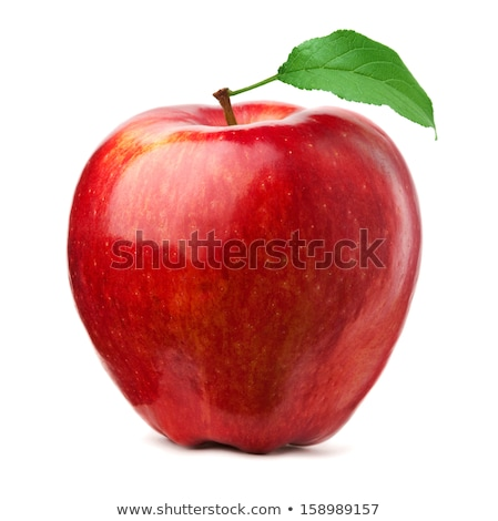 red fresh apple isolated on white stock photo © vapi