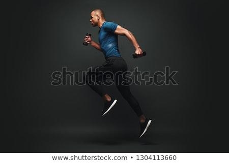 spor · adam · antreman · uygunluk · top · tam · uzunlukta - stok fotoğraf © lightsource
