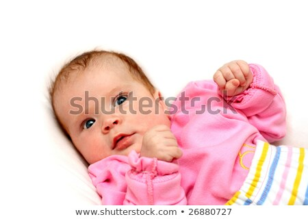 watchful baby on pillow Stock photo © Mikko