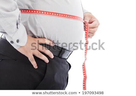 Stok fotoğraf: Overweight Man On Scales